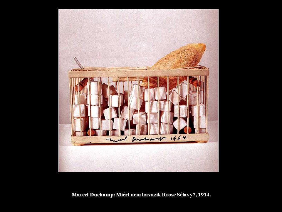Marcel Duchamp: Miért nem havazik Rrose Sélavy , 1914.