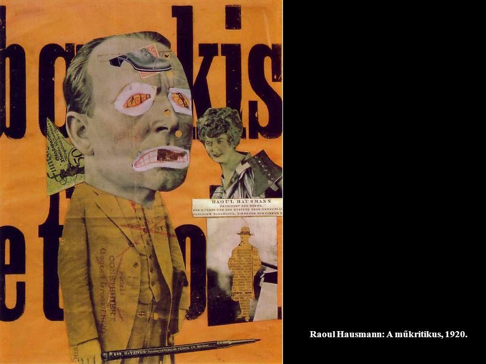 Raoul Hausmann: A műkritikus, 1920.