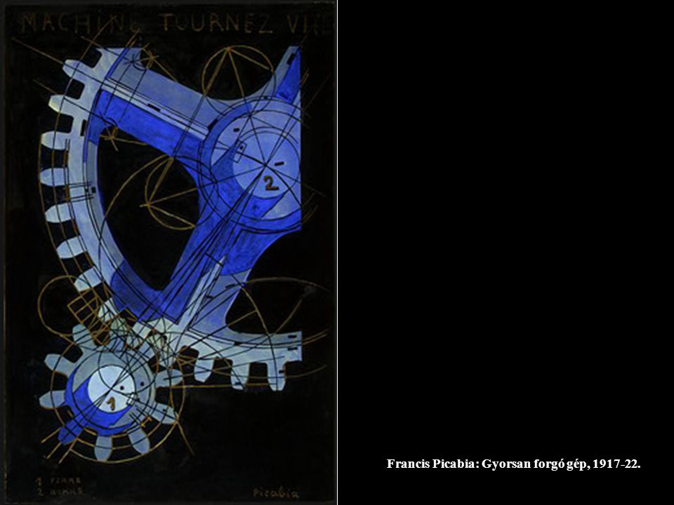 Francis Picabia: Gyorsan forgó gép, 1917-22.