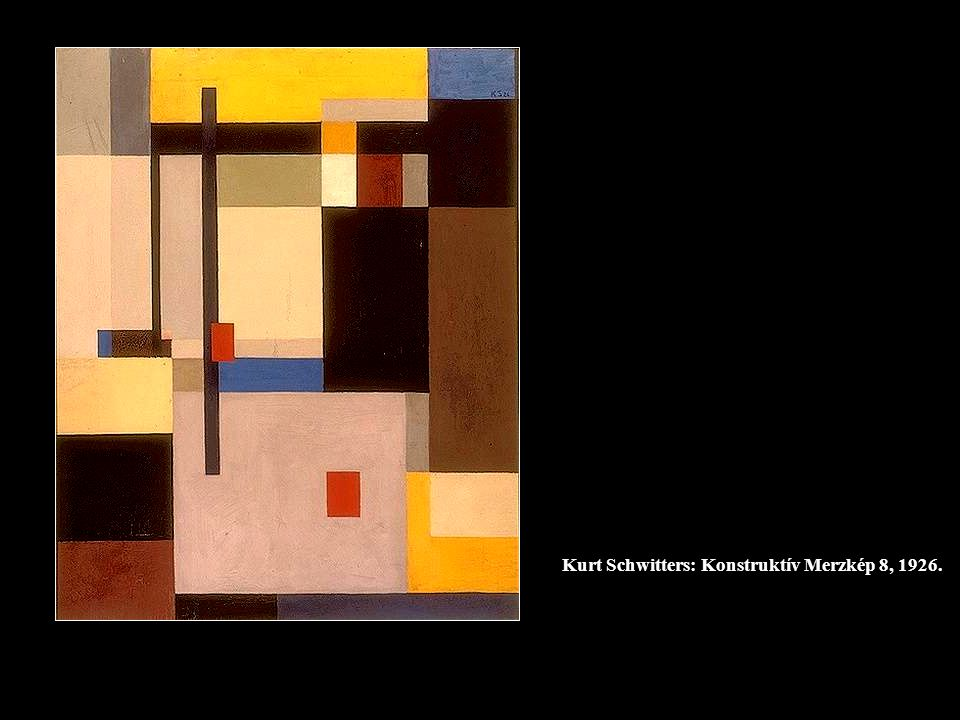 Kurt Schwitters: Konstruktív Merzkép 8, 1926.