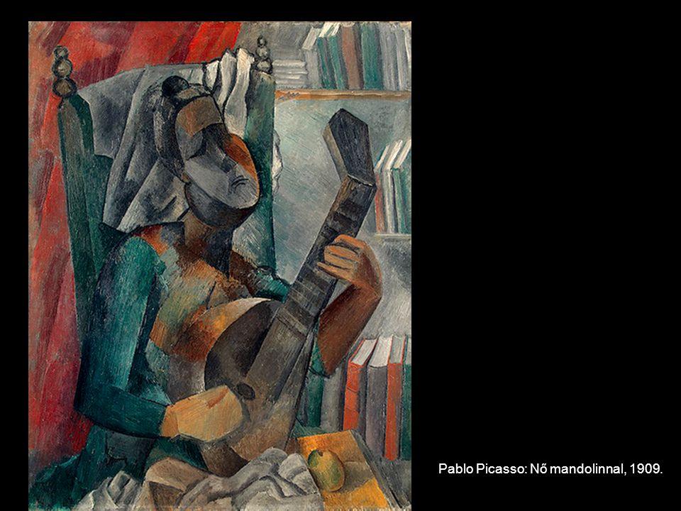 Pablo Picasso: Nő mandolinnal, 1909.