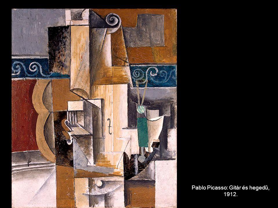 Pablo Picasso: Gitár és hegedű, 1912.
