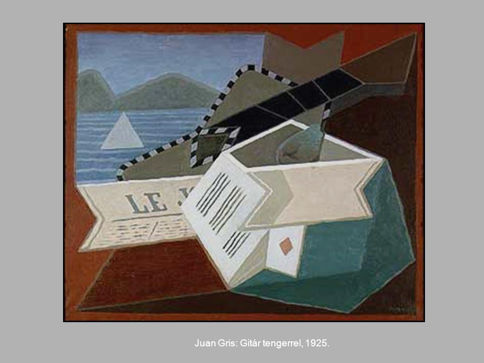 Juan Gris: Gitár tengerrel, 1925.