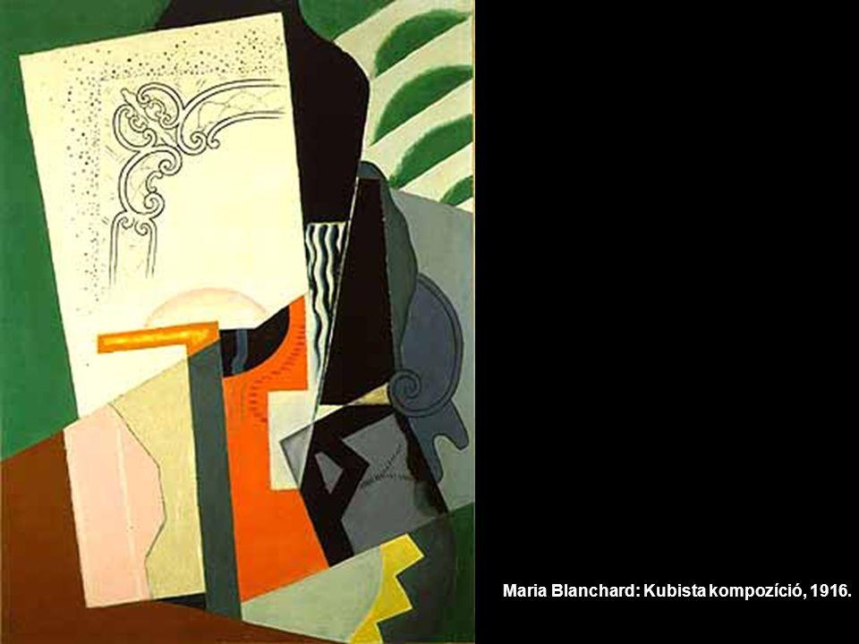Maria Blanchard: Kubista kompozíció, 1916.