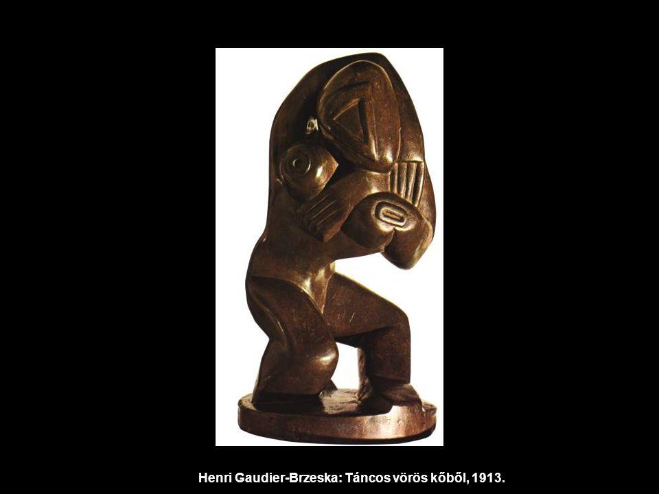 Henri Gaudier-Brzeska: Táncos vörös kőből, 1913.