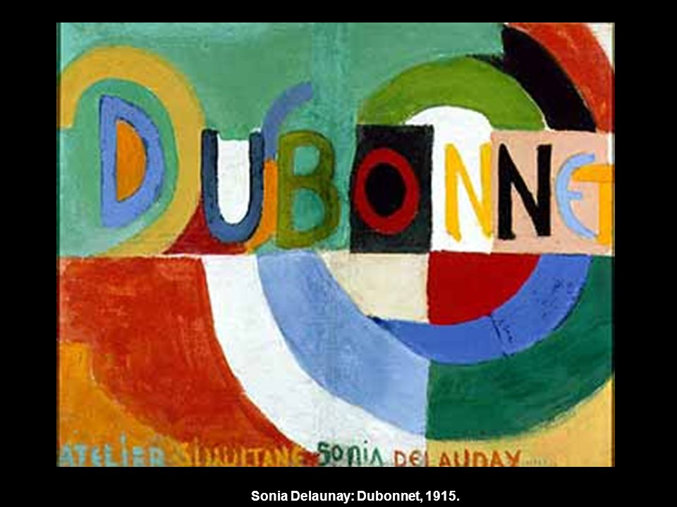 Sonia Delaunay: Dubonnet, 1915.