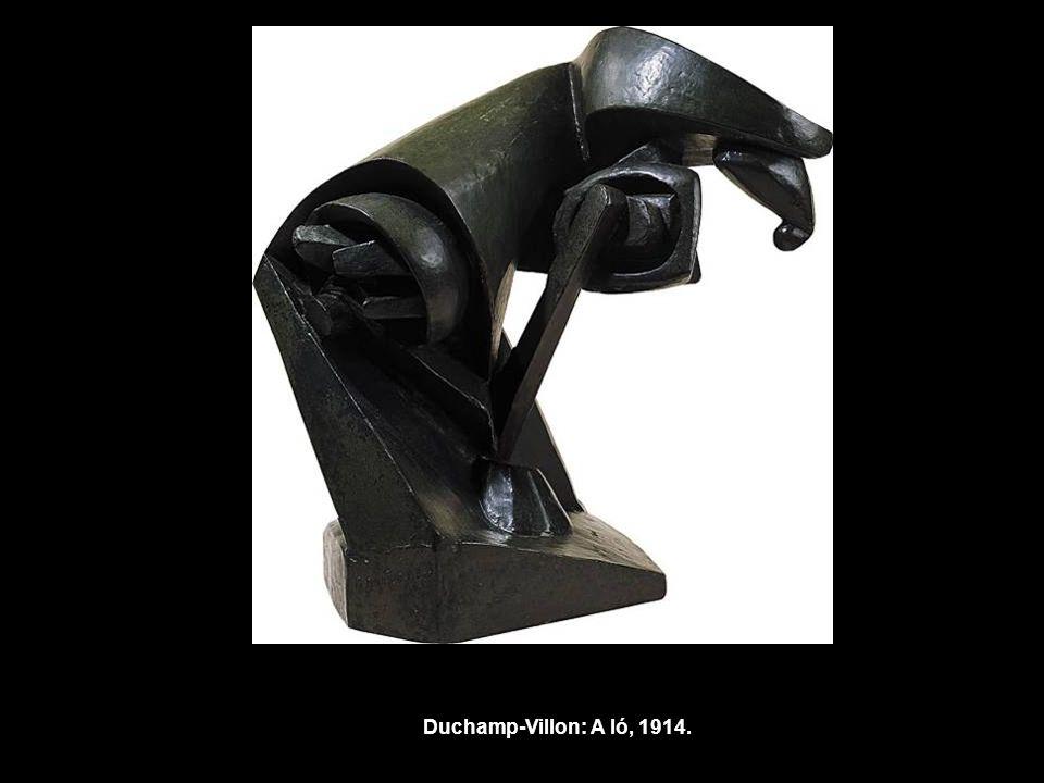 Duchamp-Villon: A ló, 1914.