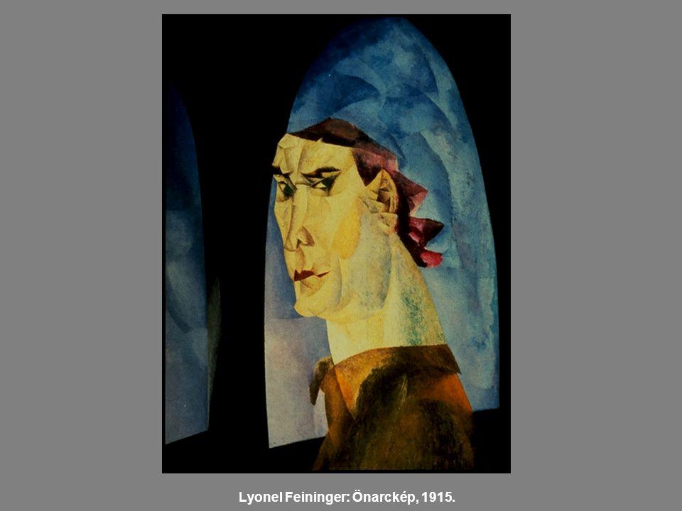 Lyonel Feininger: Önarckép, 1915.