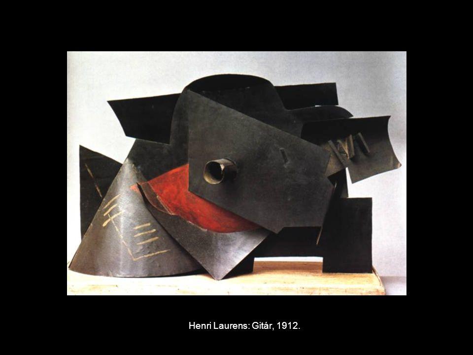 Henri Laurens: Gitár, 1912.