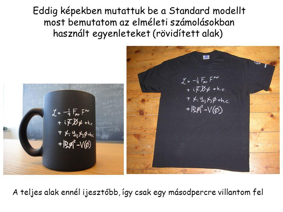 Eddig képekben mutattuk be a Standard modellt