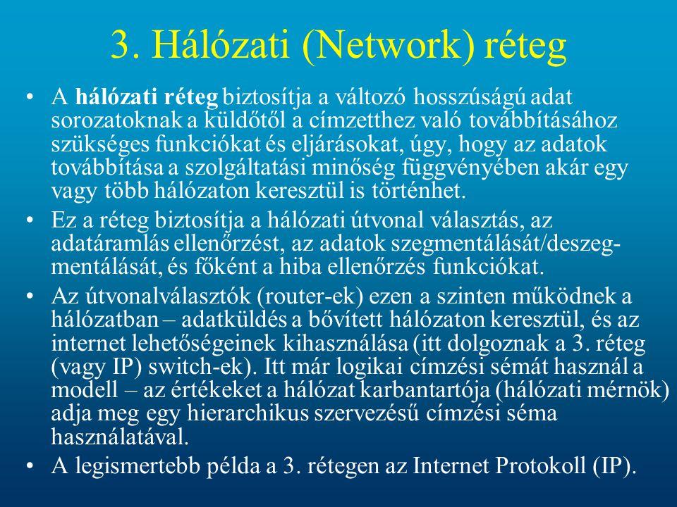 3. Hálózati (Network) réteg