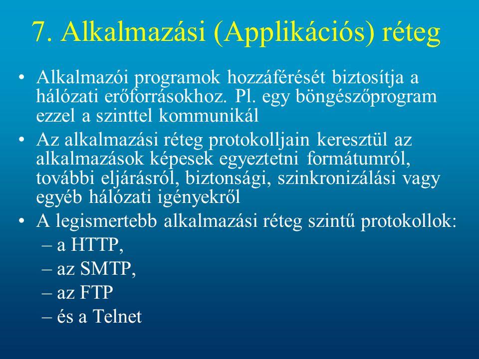 7. Alkalmazási (Applikációs) réteg