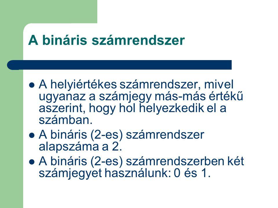 A bináris számrendszer
