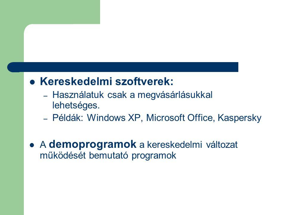 Kereskedelmi szoftverek: