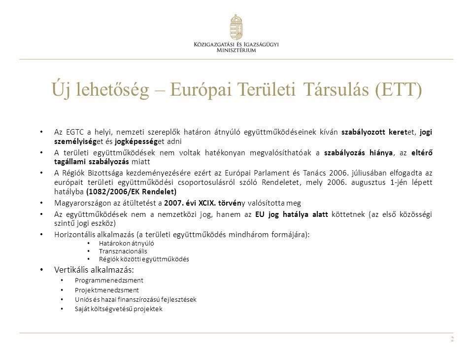 Új lehetőség – Európai Területi Társulás (ETT)