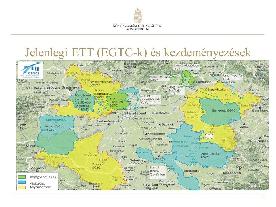 Jelenlegi ETT (EGTC-k) és kezdeményezések
