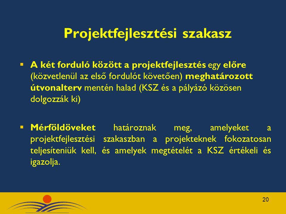Projektfejlesztési szakasz