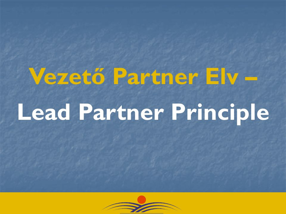 Lead Partner Principle
