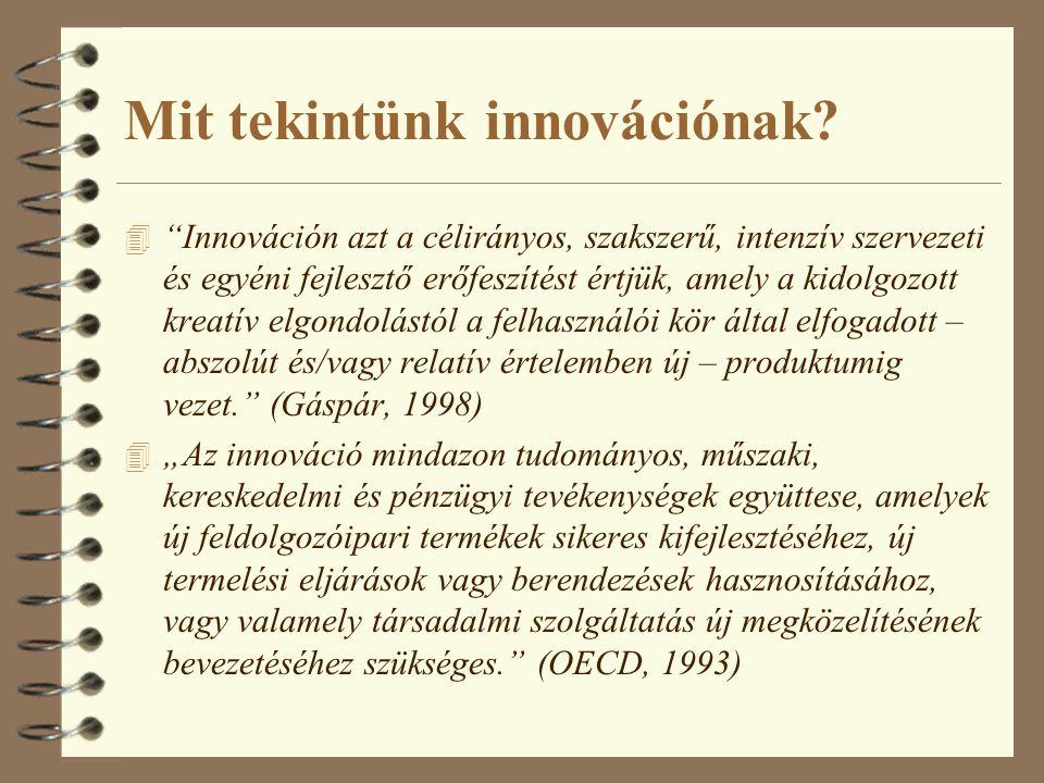 Mit tekintünk innovációnak