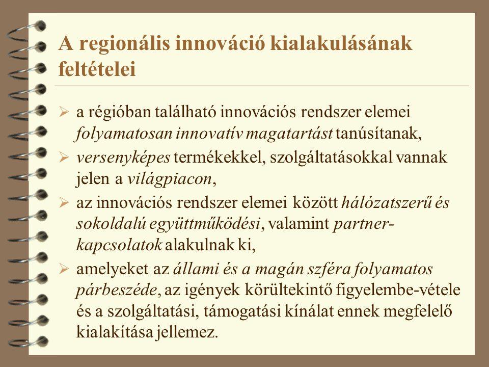 A regionális innováció kialakulásának feltételei