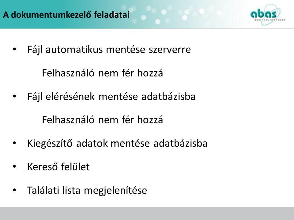 Fájl automatikus mentése szerverre Felhasználó nem fér hozzá