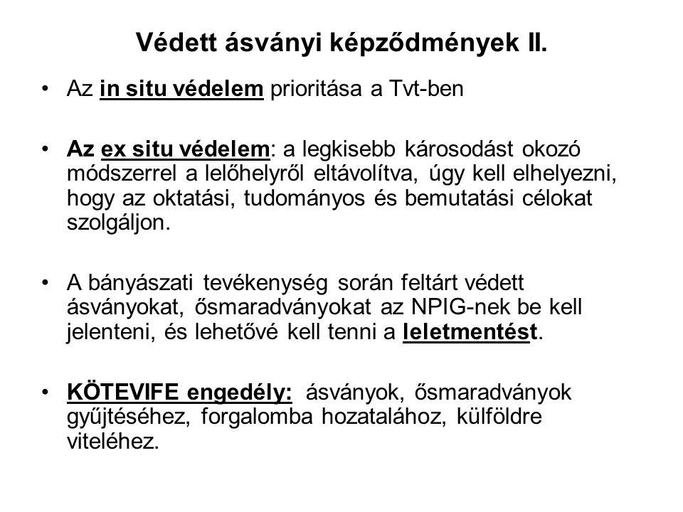 Védett ásványi képződmények II.