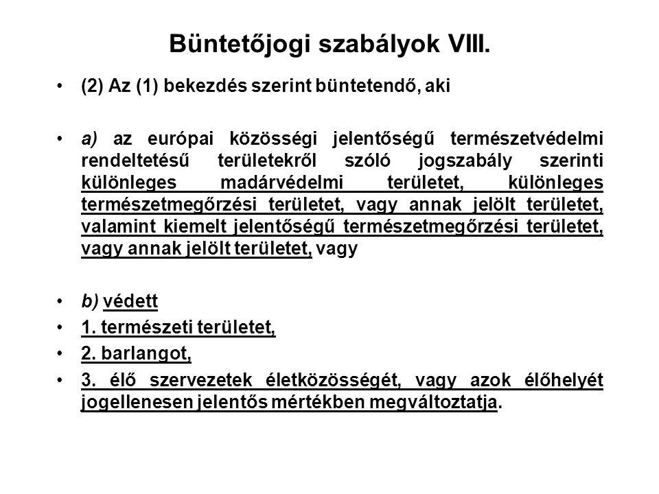 Büntetőjogi szabályok VIII.