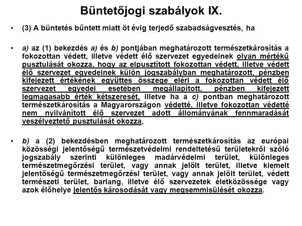 Büntetőjogi szabályok IX.
