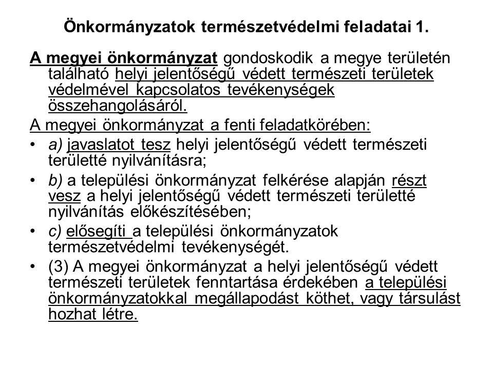 Önkormányzatok természetvédelmi feladatai 1.