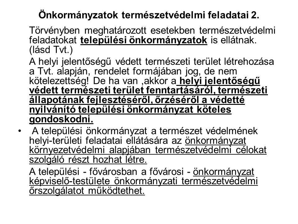 Önkormányzatok természetvédelmi feladatai 2.