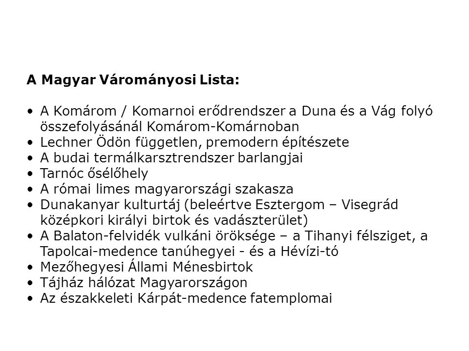 A Magyar Várományosi Lista: