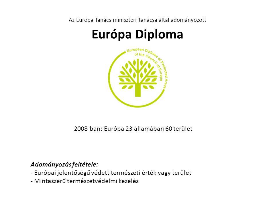 Az Európa Tanács miniszteri tanácsa által adományozott Európa Diploma