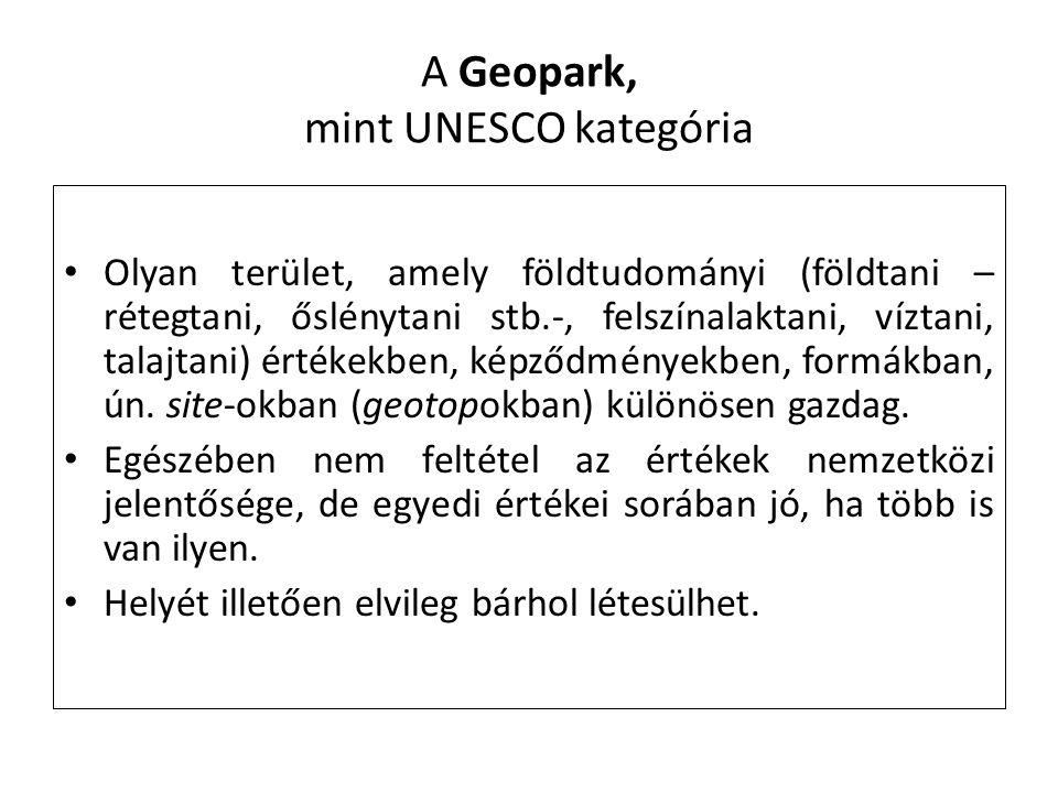 A Geopark, mint UNESCO kategória