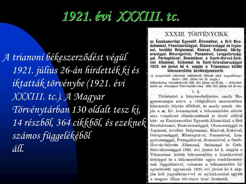 1921. évi XXXIII. tc.