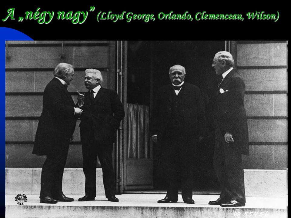 """A """"négy nagy (Lloyd George, Orlando, Clemenceau, Wilson)"""