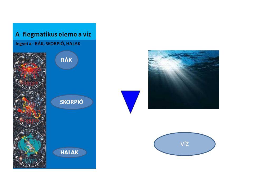 A flegmatikus eleme a víz
