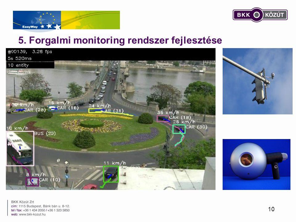 5. Forgalmi monitoring rendszer fejlesztése