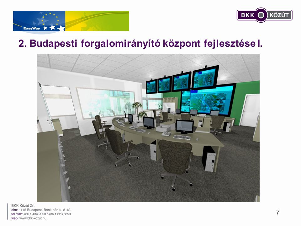 2. Budapesti forgalomirányító központ fejlesztése I.