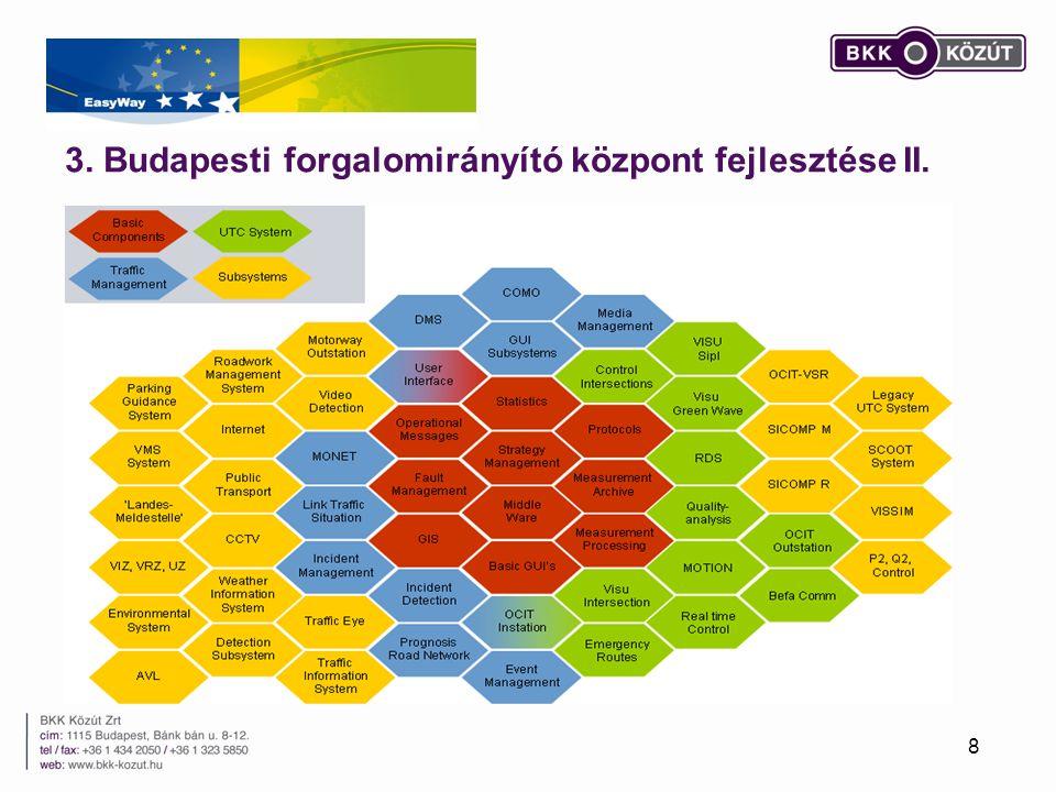 3. Budapesti forgalomirányító központ fejlesztése II.