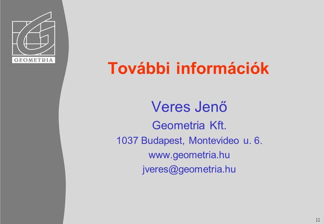További információk Veres Jenő Geometria Kft.