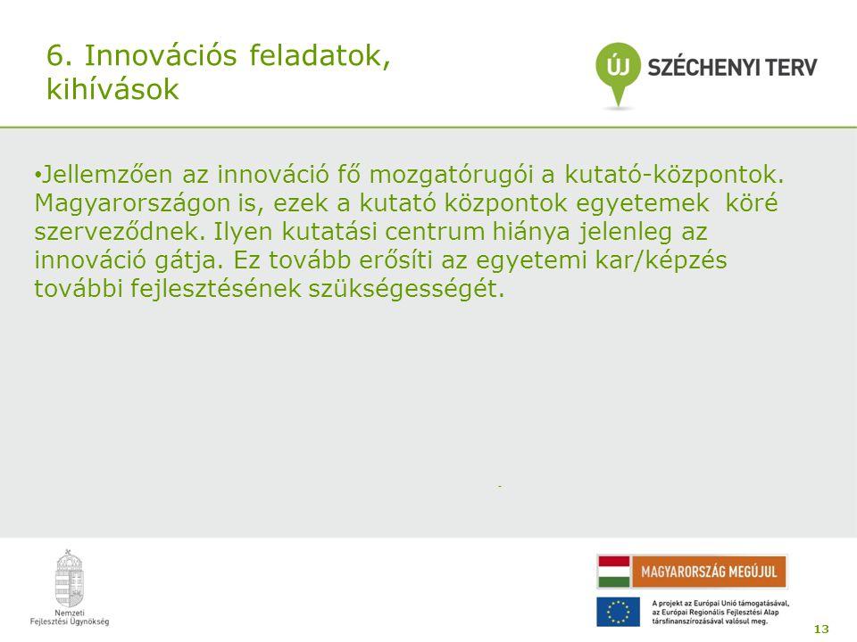 6. Innovációs feladatok, kihívások