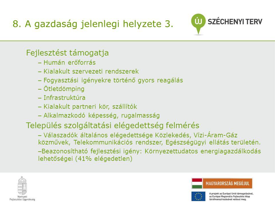 8. A gazdaság jelenlegi helyzete 3.