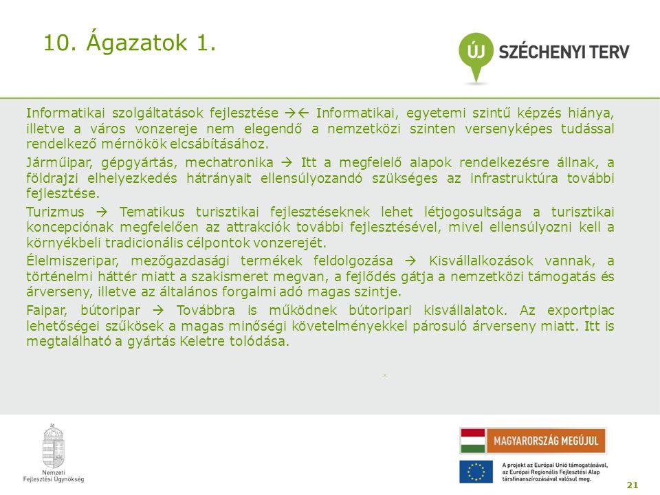 10. Ágazatok 1.