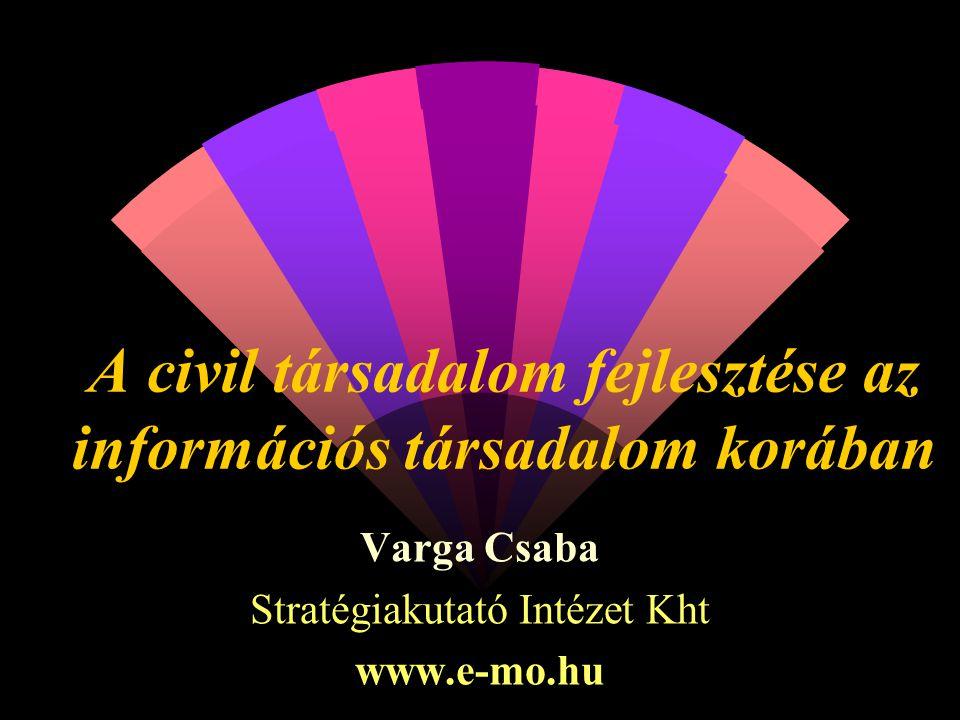 A civil társadalom fejlesztése az információs társadalom korában