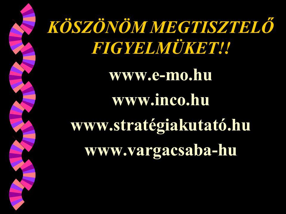 KÖSZÖNÖM MEGTISZTELŐ FIGYELMÜKET!!
