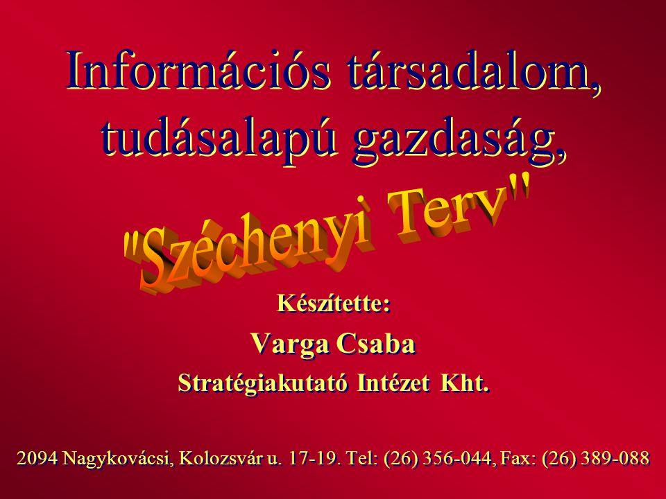 Információs társadalom, tudásalapú gazdaság,