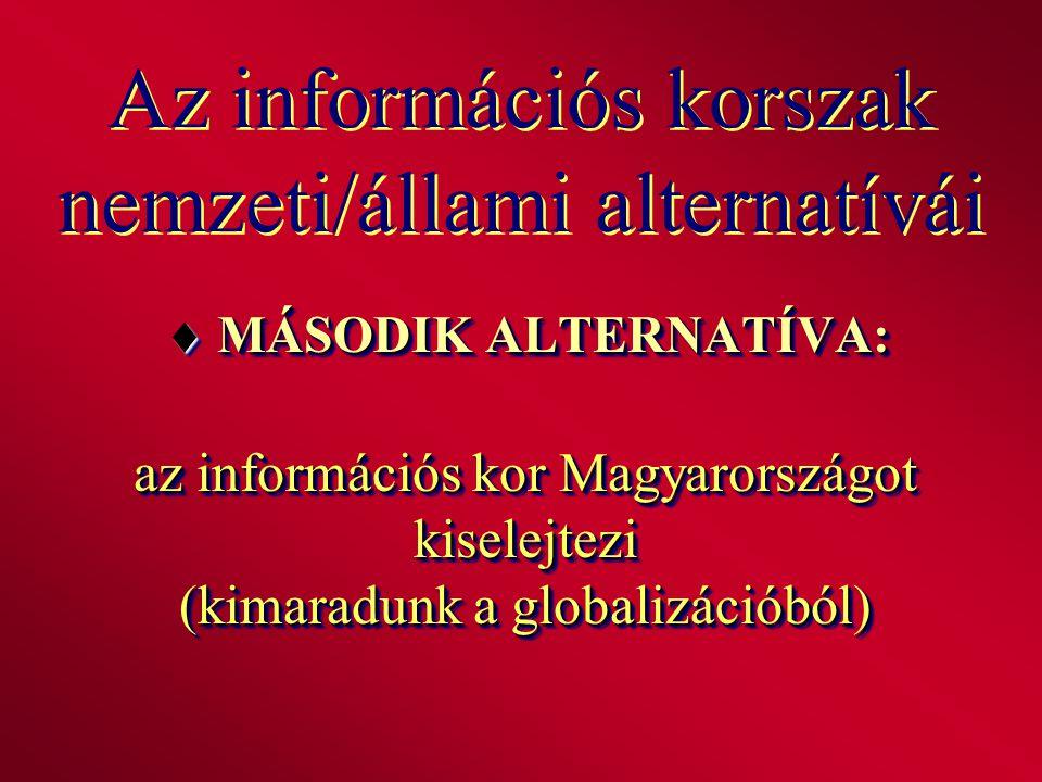 Az információs korszak nemzeti/állami alternatívái