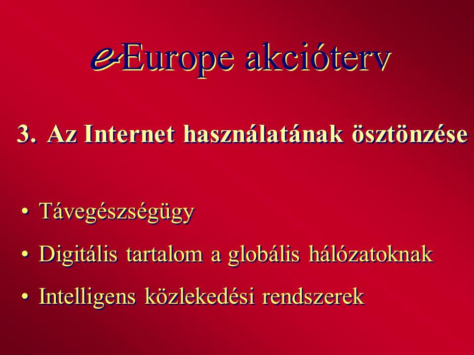 3. Az Internet használatának ösztönzése