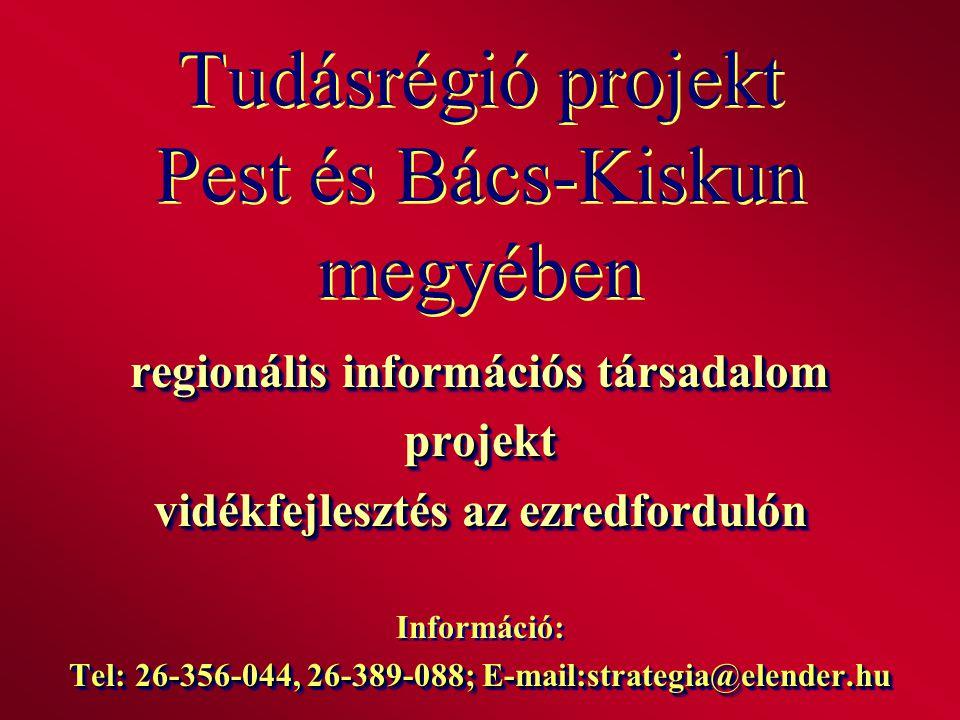 Tudásrégió projekt Pest és Bács-Kiskun megyében