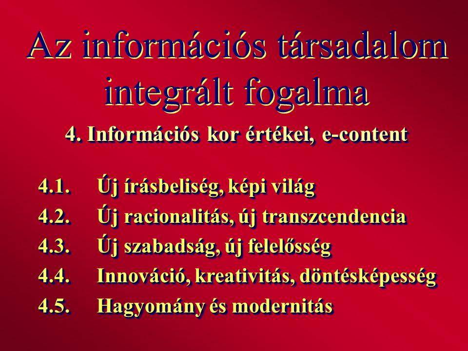 Az információs társadalom integrált fogalma